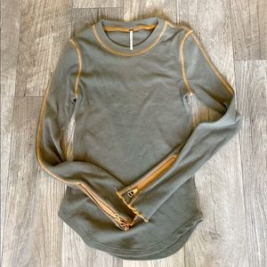 Free people miss green thermal